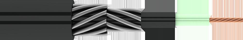 Кабель грузонесущий WireCompojack с армированной оболочкой