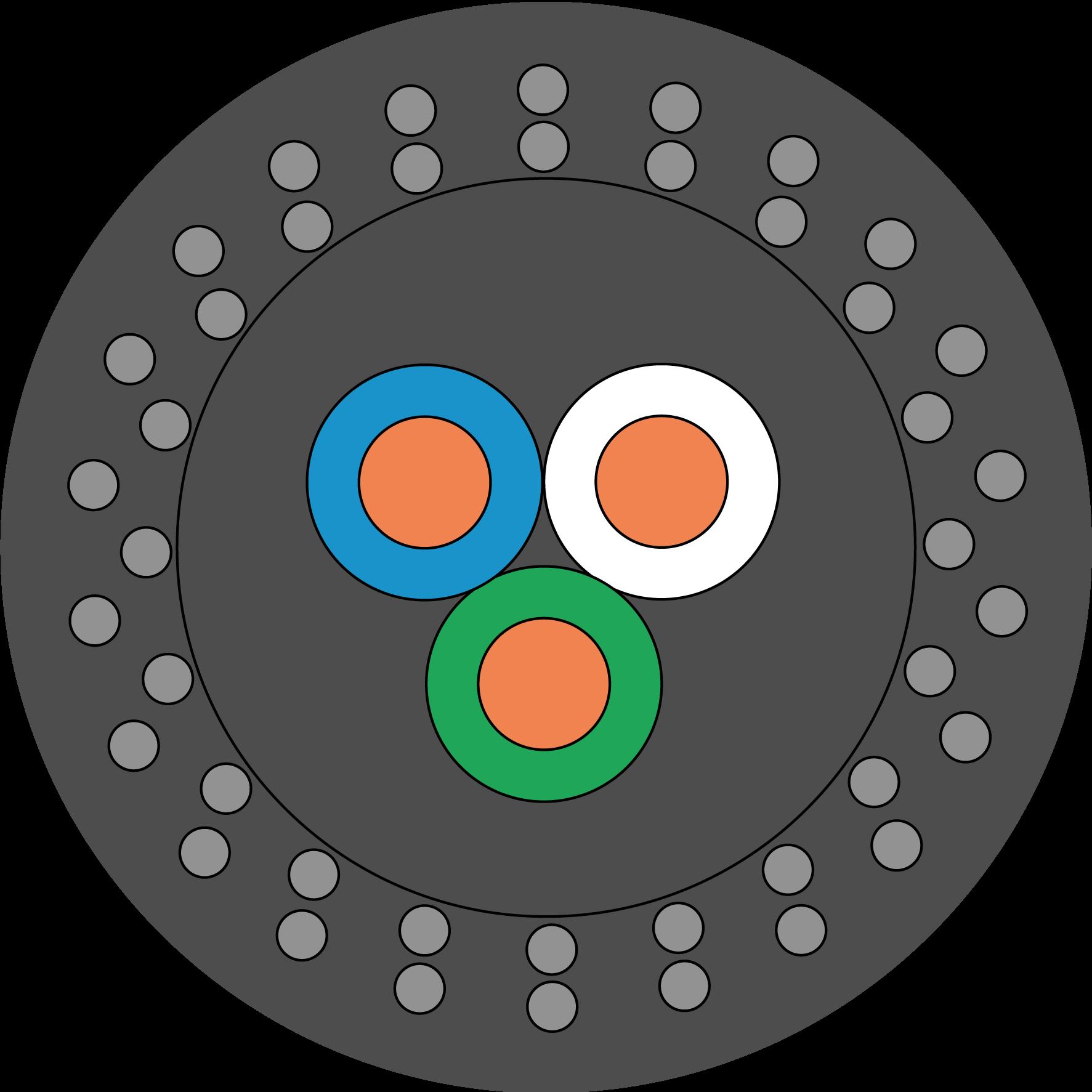 Сечение грузонесущего кабеля для ЭЦН